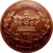 Australia 5 S. Restrike 1851 X# 4 SYDNEY 5 S. NEW SOUTH WALES coin reverse