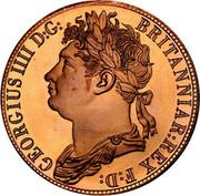 Australia 5 S. Restrike 2006 1830 (2006) X# 2a GEORGIUS IIII D:G: BRITANNIAR:REX F:D: coin obverse
