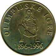 Slovenia 5 Tolarjev Olympics Centennial 1996 KM# 33 OLIMPIJSKE IGRE 1896 - 1996 coin reverse