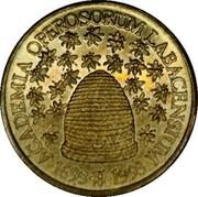 Slovenia 5 Tolarjev Operosorum Labacensium Academy 1993 KM# 12 ACADEMIA OPEROSORUM LABACENSIUM 1693*1993 coin reverse