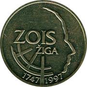 Slovenia 5 Tolarjev Sigmund Zois 1997 KM# 38 ZOIS ŽIGA 1747 1997 coin reverse