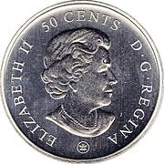 Canada 50 Cents 100th Anniv. Athletique Canadien - Montreal Canadiens 2009 ELIZABETH II 50 CENTS D G REGINA coin obverse