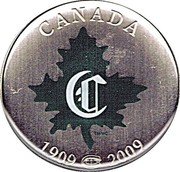 Canada 50 Cents 100th Anniv. Athletique Canadien - Montreal Canadiens 2009 CANADA 1909 2009 coin reverse