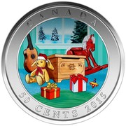 Canada 50 Cents Holiday Toy Box 2015 Specimen CANADA 50 CENTS 2015 coin reverse