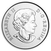 Canada 50 Cents Snow Angels 2016 Specimen KM# 2082 ELIZABETH II D ∙ G ∙ REGINA coin obverse
