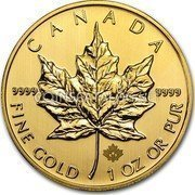 Canada 50 Dollars Gold Maple Leaf 2013 KM# 1488 CANADA 9999 9999 FINE GOLD 1 OZ OR PUR coin reverse