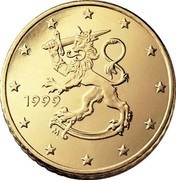 Finland 50 Euro Cent 1st map 1999 M Proof KM# 103 coin obverse