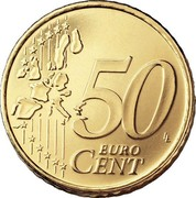 Finland 50 Euro Cent 1st map 1999 M Proof KM# 103 50 EURO CENT LL coin reverse
