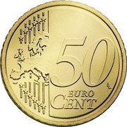 Finland 50 Euro Cent 2nd map 2007 FI Proof KM# 128 50 EURO CENT LL coin reverse