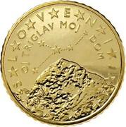 Slovenia 50 Euro Cent O Triglav, my home 2007 KM# 73 SLOVENIJA OJ TRIGLAV MOJ DOM 2007 coin obverse