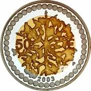 Finland 50 Euro Finnish Art and Design 2003 P-M Proof KM# 113 50 € 2003 P coin reverse