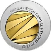 Finland 50 Euro World Design Capital Helsinki 2012 L Proof KM# 180 WORLD DESIGN CAPITAL HELSINKI 2012 coin obverse
