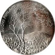 Finland 50 Markkaa World Athletics Championships 1983 K-M KM# 61 SUOMI FINLAND 50 MARKKAA MARK coin obverse