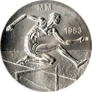 Finland 50 Markkaa World Athletics Championships 1983 K-M KM# 61 MM 1983 coin reverse