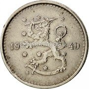 Finland 50 Pennia 1940 S KM# 26 Decimal Coinage DATE coin obverse