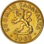 Finland 50 Pennia 1963 S KM# 48 Reform Coinage SUOMEN TASAVALTA DATE coin obverse