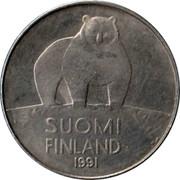 Finland 50 Pennia 1991 M KM# 66 Reform Coinage SUOMI FINLAND DATE coin obverse