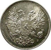 Finland 50 Pennia Nikolai II (Civil War Coinage without crown) 1917 S KM# 20 coin obverse