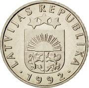Latvia 50 Santimu 1992 KM# 13 Standart Coinage LATVIJAS REPUBLIKA YEAR coin obverse