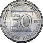 Slovenia 50 Stotinov 1995 KM# 3 Standart Coinage REPUBLIKA SLOVENIJA PETDESET STOTINOV 50 YEAR coin obverse