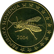 Slovenia 50¢ (Trial) X# Pn6 REPUBLIKA SLOVENIJA 2004 coin obverse