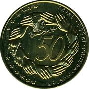 Slovenia 50¢ (Trial) X# Pn6 TRIAL ESSAI PRUEBA MUSTER 50 coin reverse