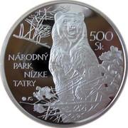 Slovakia 500 Korun Low Tatras National Park 2008 Proof KM# 106 NÁRODNÝ PARK NÍZKE TATRY 500 SK coin reverse