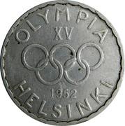 Finland 500 Markkaa Olympic Games 1952 H KM# 35 OLYMPIA XV 1952 HELSINKI coin obverse
