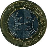 Slovenia 500 Tolarjev 100th Anniversary of Slovenian Sports Association 2005 KM# 63 100 LET SLOVENSKE SOKOLSKE ZVEZE coin reverse