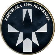 Slovenia 500 Tolarjev Defeat of Fascism 1995 Proof KM# 23 REPUBLIKA 1995 SLOVENIJA coin obverse