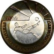 Slovenia 500 Tolarjev FIFA World Cup 2002 2002 KM# 45 2002 SVETOVNO PRVENSTVO V NOGOMETU coin reverse