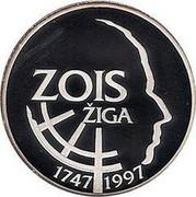 Slovenia 500 Tolarjev Sigmund Zois 1997 Proof KM# 39 ZOIS ŽIGA 1747 1997 coin reverse