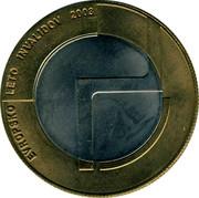 Slovenia 500 Tolarjev Year of Disabled People 2003 KM# 50 EVROPSKO LETO INVALIDOV 2003 coin reverse