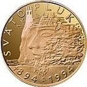 Slovakia 5000 Korun 1100th Anniversary - Death of Moravian King Svatopluk 1994 Proof KM# 29 SVÄTOPLUK 894-1994 coin reverse