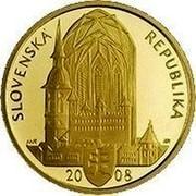 Slovakia 5000 Korun 400th Anniversary Coronation of King Matthias II 2008 Proof KM# 89 KORUNOVÁCIA MATEJA II. / BRATISLAVA coin reverse