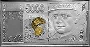 Slovakia 5000 Korun Milan Rastislav Stefanik 2003 Proof KM# 73 coin obverse