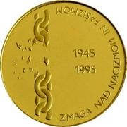 Slovenia 5000 Tolarjev Defeat of Fascism 1995 Proof KM# 24 ZMAGA NAD NACIZMOM IN FAŠIZMOM 1945 1995 coin reverse