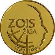 Slovenia 5000 Tolarjev Sigmund Zois 1997 Proof KM# 40 ZOIS ŽIGA 1747 1997 coin reverse