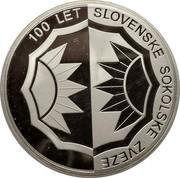 Slovenia 5000 Tolarjev Slovenian Sports Association 2005 Proof KM# 64 100 LET SLOVENSKE SOKOLSKE ZVEZE coin reverse