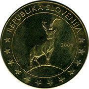 Slovenia 5E Janez Vajkard Valvasor 2004 Proof X# Pn9 REPUBLIKA SLOVENIJA coin reverse