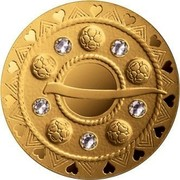 Latvia 75 Euro Gold Brooches The Bubble Fibula 2018  coin reverse