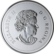 Canada 8 Dollars - Elizabeth II (Brilliant Cherry Blossoms) 2019 Specimen ELIZABETH II D ∙ G ∙ REGINA coin obverse