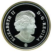 Canada Dollar 100th Anniversary of flight in Canada 2009 Maple leaf Proof KM# 889a ELIZABETH II D∙G∙REGINA coin obverse