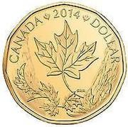 Canada Dollar Canada Gift Set 2014 KM# 1591 CANADA 2014 DOLLAR coin reverse