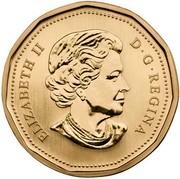 Canada Dollar Loonie Test token 2011  ELIZABETH II D ∙ G ∙ REGINA coin obverse