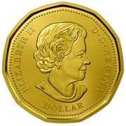 Canada Dollar Lucky Loonie 2016 KM# 2089 ELIZABETH II D ∙ G ∙ REGINA DOLLAR coin obverse