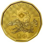 Canada Dollar Lucky Loonie 2016 KM# 2089 CANADA 2016 LUCKY LOONIE DOLLAR PORTE-BONHEUR coin reverse
