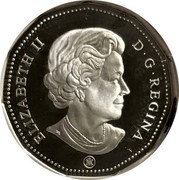 Canada Dollar Silver edition Loonie 2008 Baby's Lullabies. KM# 495a ELIZABETH II D ∙ G ∙ REGINA coin obverse