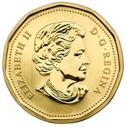 Canada Dollar Snowy owl 2006 Proof, Specimen KM# 582 ELIZABETH II D∙G∙REGINA coin obverse