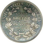 USA Dollar (Trade Dollar (Pattern)) UNITED STATES OF AMERICA TRADE DOLLAR 420 GRAINS 900 FINE coin reverse